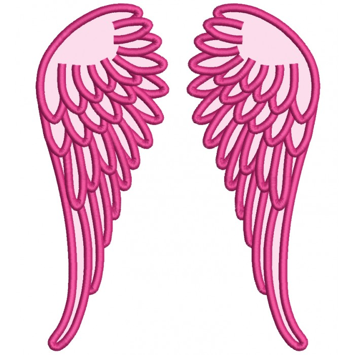 Angel Wings Applique Machine Embroidery Design Digitized Pattern