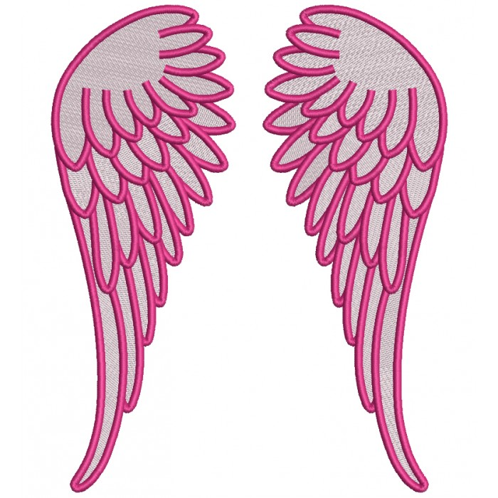 Angel Wings Filled Machine Embroidery Design Digitized Pattern