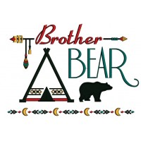 Brother Bear Tribal Applique Machine Embroidery Design Digitized Pattern