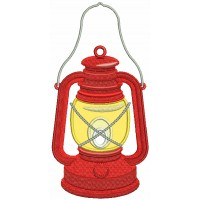 Camping Lantern Applique Machine Embroidery Design Digitized Pattern