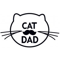 Cat Dad Applique Machine Embroidery Design Digitized Pattern