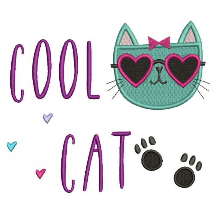 Cool Cat Feet Filled Machine Embroidery Design Digitized Pattern