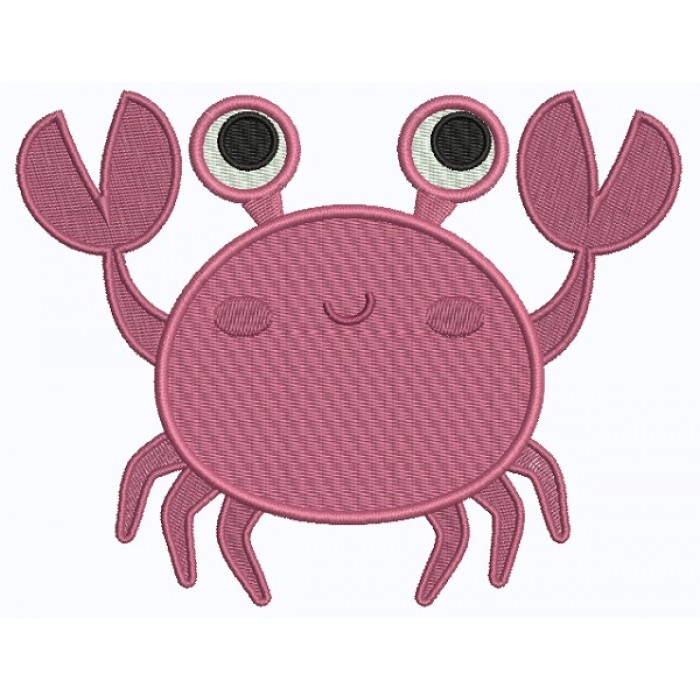 Crabby Crab Filled Machine Embroidery Design Digitized Pattern