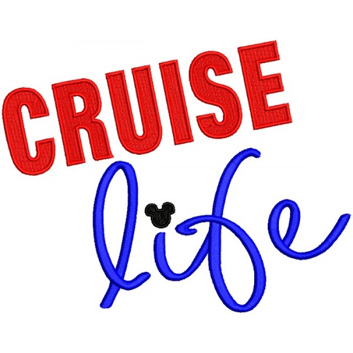 Cruise Life Nautical Filled Machine Embroidery Design Digitized Pattern