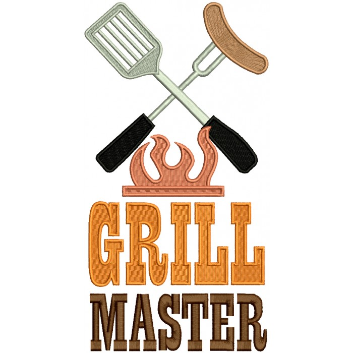 Grill Master Filled Machine Embroidery Design Digitized Pattern