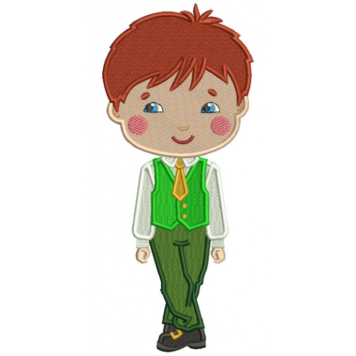 Irish Jig Riverdance Boy St. Patrick's Filled Machine Embroidery Design Digitized Pattern