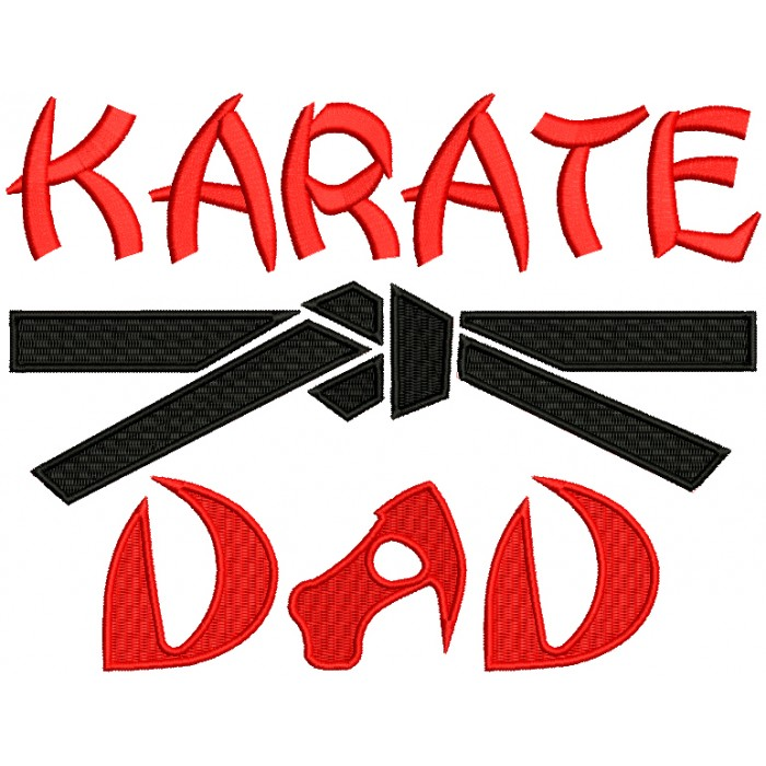 Karate Dad Filled Machine Embroidery Design Digitized Pattern
