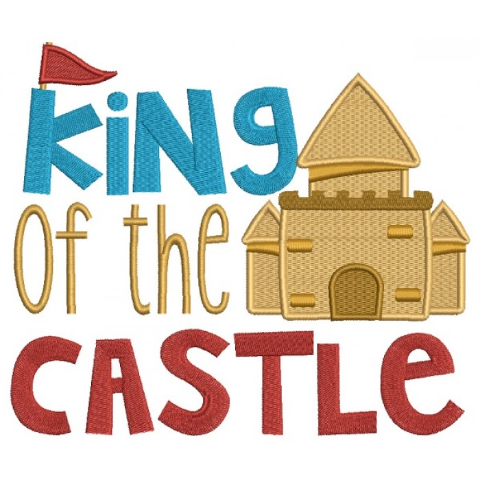 King of the Castle Beach Filled Machine Embroidery Design Digitized Pattern