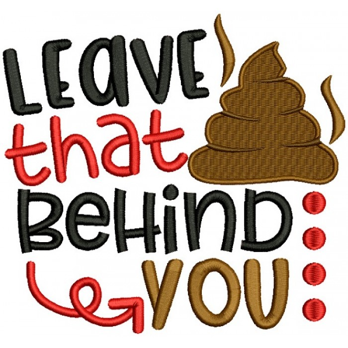 Leave That Behind You Filled Machine Embroidery Design Digitized Pattern