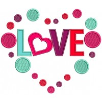 Love Inside Heart Applique Machine Embroidery Design Digitized Pattern