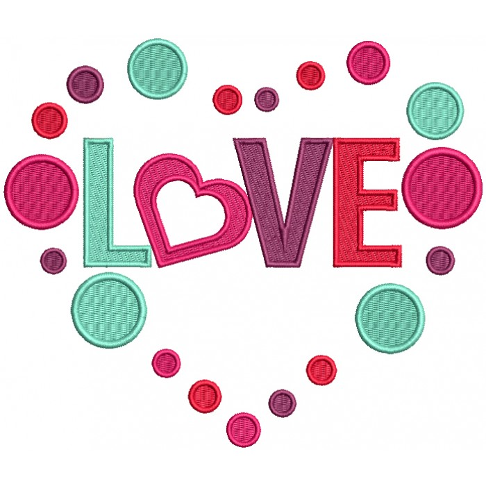 Love Inside Heart Filled Machine Embroidery Design Digitized Pattern