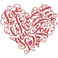 Love The Life Heart Filled Machine Embroidery Design Digitized Pattern