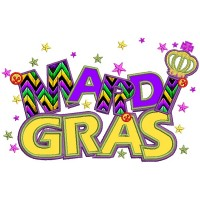 Mardi Gras Banner With Stars Applique Machine Embroidery Design Digitized Pattern