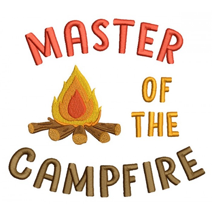 Master Of Campfire Filled Machine Embroidery Design Digitized Pattern