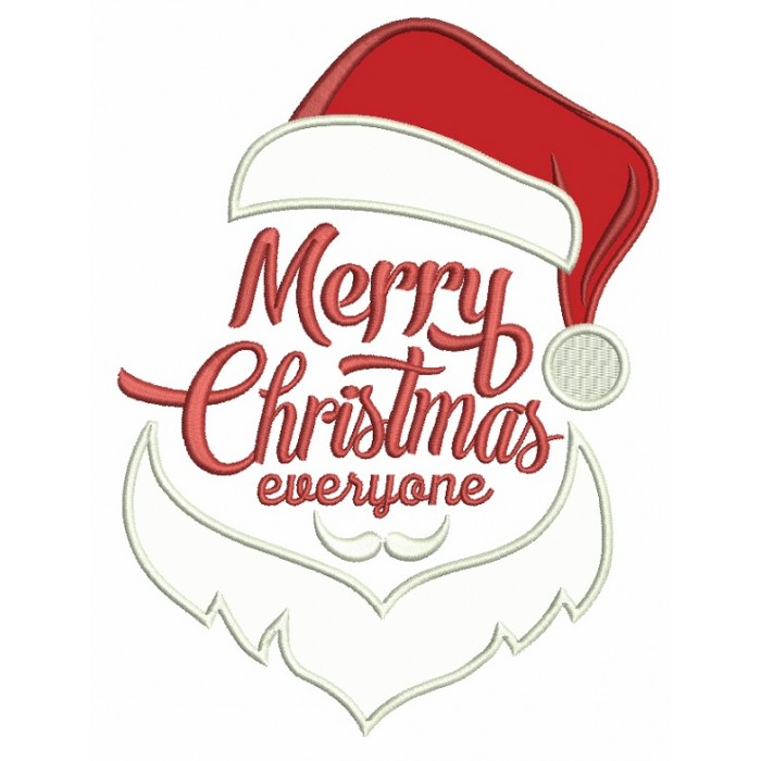 Merry Christmas Everyone.Merry Christmas Everyone Applique Machine Embroidery Design Digitized Pattern