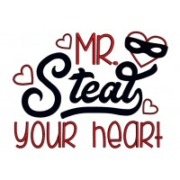 Mr Steal Your Heart Applique Machine Embroidery Design Digitized Pattern