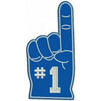 Number One Fan Finger Sports Applique Machine Embroidery Design Digitized Pattern
