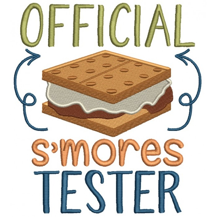 Official Smores Tester Filled Machine Embroidery Design Digitized Pattern