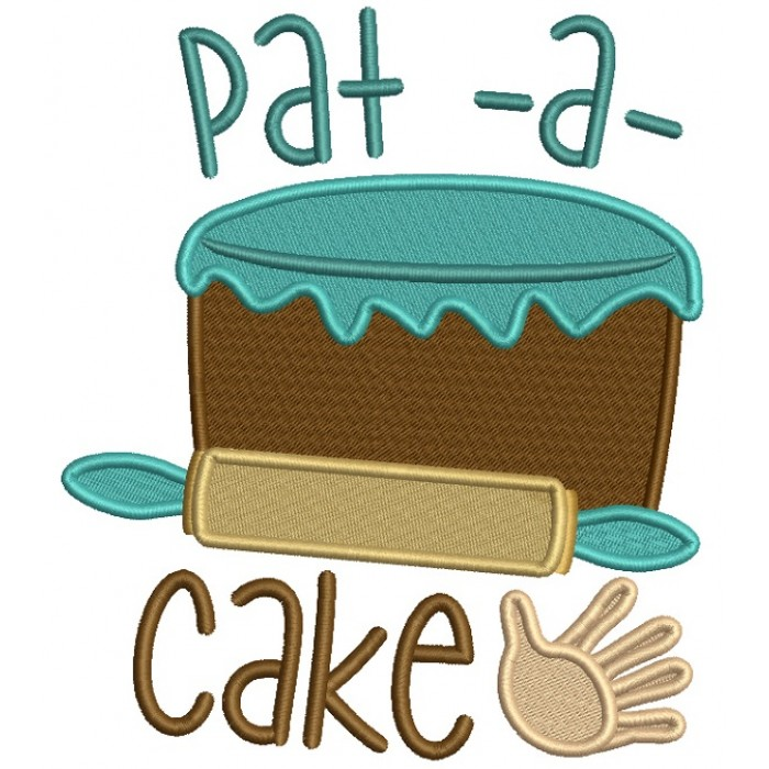 Pat-A-Cake Cooking Nursery Rhimes Filled Machine Embroidery Design Digitized Pattern