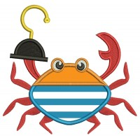 Pirate Crab Applique Machine Embroidery Design Digitized Pattern