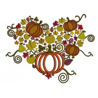 Pumpkins Thanksgiving Cornucopia Applique Machine Embroidery Design Digitized Pattern