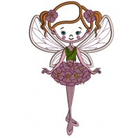 Spring Fairy Belerinna Applique Machine Embroidery Design Digitized Pattern