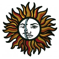 Sun And The Moon Applique Machine Embroidery Design Digitized Pattern