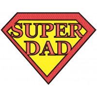 Super Dad He Is My Superhero Applique Machine Embroidery Design Digitized Pattern