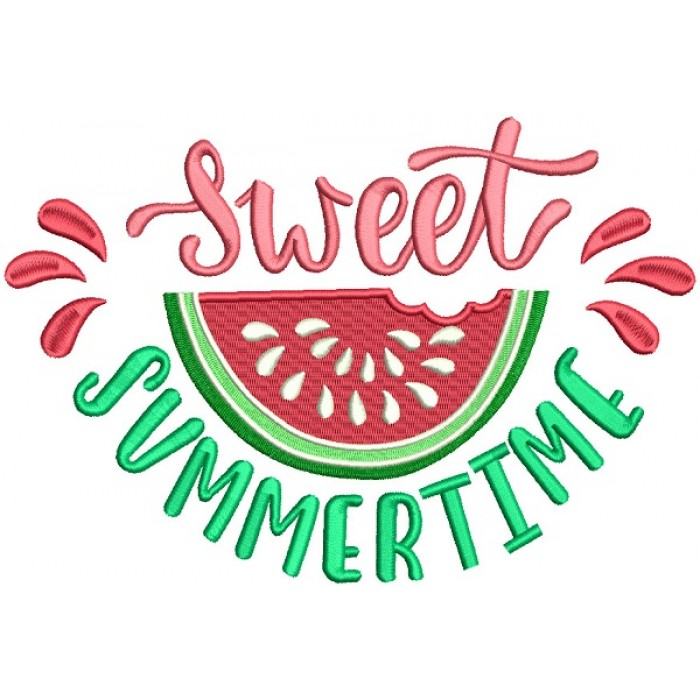 Sweet Summertime Watermelon Filled Machine Embroidery Design Digitized Pattern