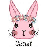 The Cutest Bunny Applique Machine Embroidery Design Digitized Pattern