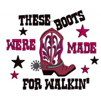 These Boots Were Made For Walking Applique Machine Embroidery Design Digitized Pattern