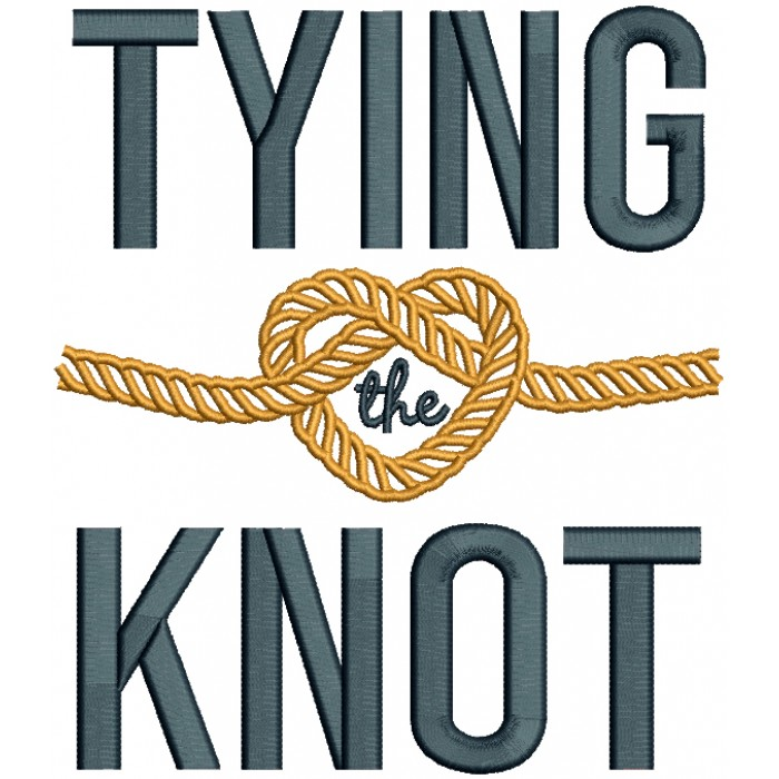 Tying The Knot Wedding Filled Machine Embroidery Design Digitized Pattern