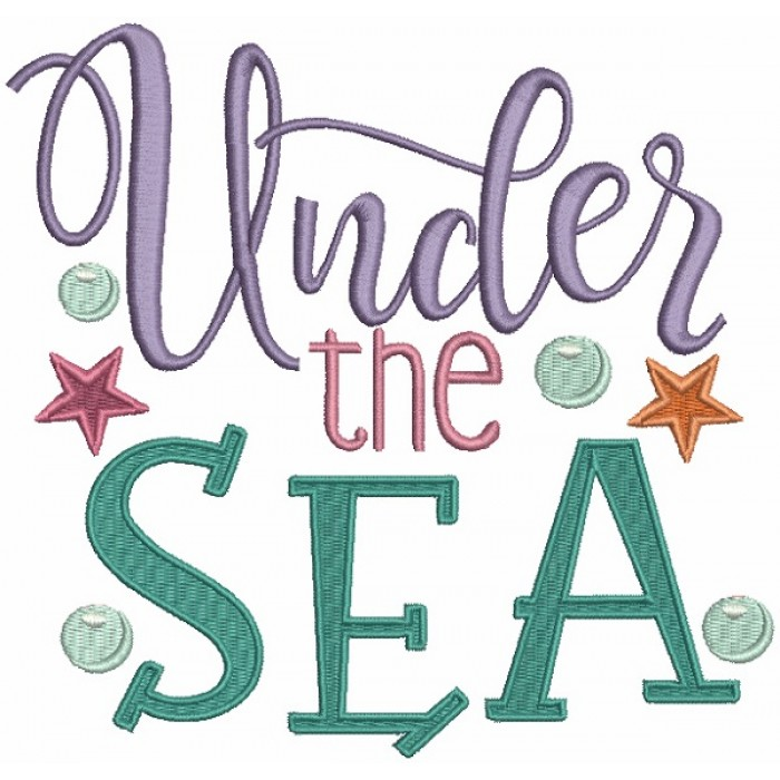 Under The Sea Marine Filled Machine Embroidery Design Digitized Pattern