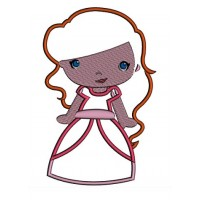 Instant Download Princess Ariel's Little Sister Machine Embroidery Applique Design
