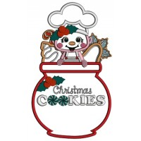 Christmas Cookies Little Chef Applique Machine Embroidery Design Digitized Pattern