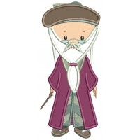 Looks Like Professor Dumbledore From Harry Potter Applique Machine Embroidery Design Digitized Pattern