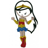 Looks Like a Wonder Woman Supergirl Applique Machine Embroidery Design Digitized Pattern