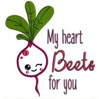 My Heart Beats For You Applique Machine Embroidery Design Digitized Pattern