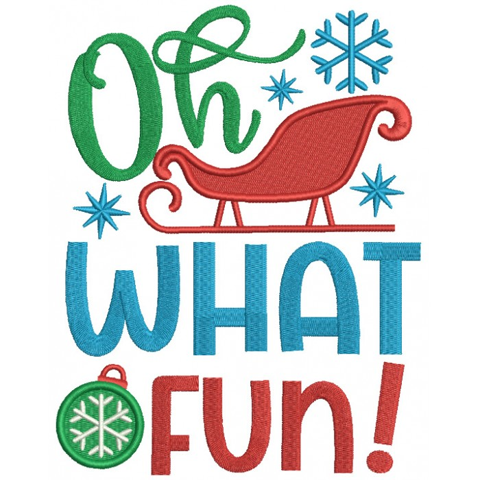 Oh What a Fun Christmas Filled Machine Embroidery Design Digitized Pattern