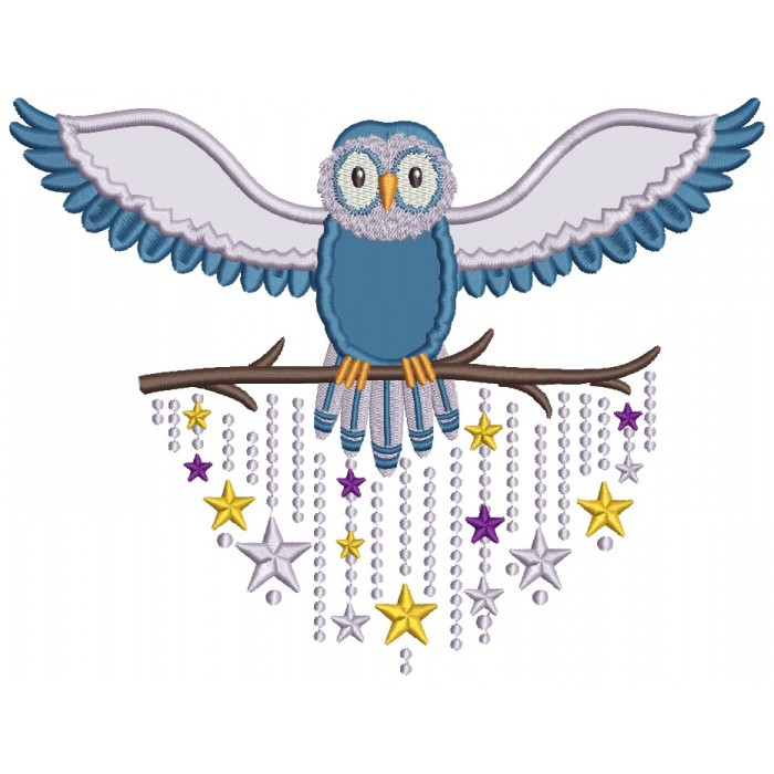 Whimsical Owl Applique Machine Embroidery Design Digitized Pattern