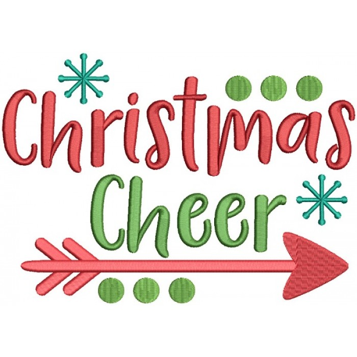 Christmas Cheer.Christmas Cheer Filled Machine Embroidery Design Digitized Pattern
