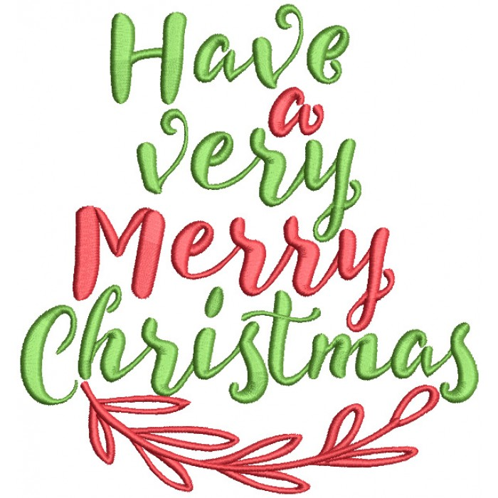 have a very merry christmas filled machine embroidery design digitized pattern