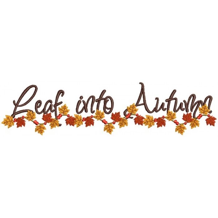 Leaf Into Autumn Fall Filled Machine Embroidery Design Digitized Pattern