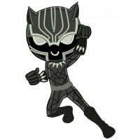 Looks Like Black Panther Superhero Applique Machine Embroidery Design Digitized Pattern