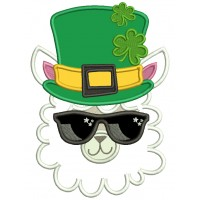 Lucky Llama St. Patrick's Day Applique Machine Embroidery Design Digitized Pattern