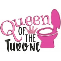 Queen Of The Throne Applique Machine Embroidery Design Digitized Pattern