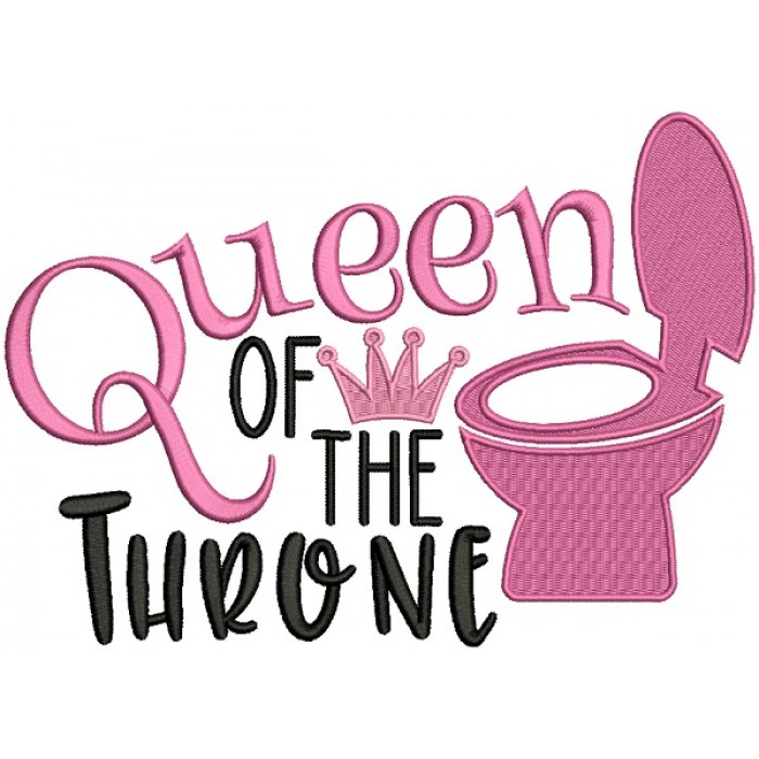 Queen Of The Throne Filled Machine Embroidery Design Digitized Pattern