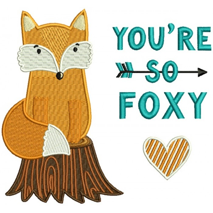 You're So Foxy Filled Machine Embroidery Design Digitized Pattern