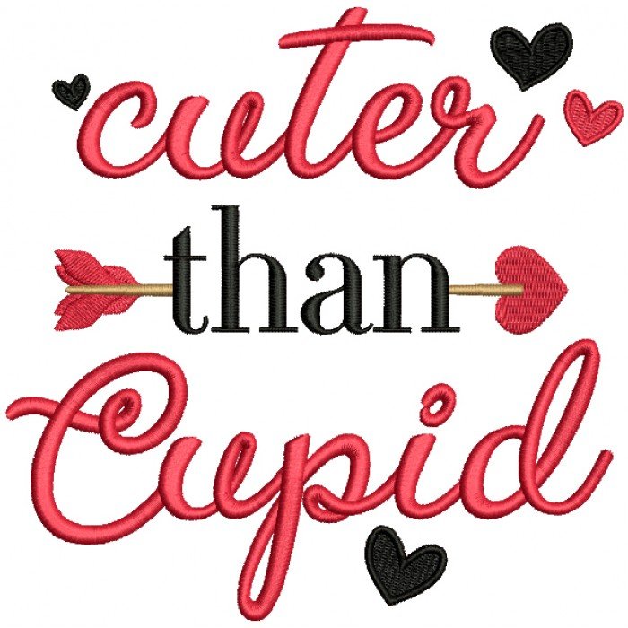 Cuter Than Cupid Filled Valentine's Day Machine Embroidery Design Digitized Pattern