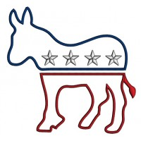 Democratic Party Donkey Political Applique Machine Embroidery Design Digitized